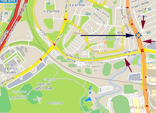 מפה: פנחס רוזן 22, תל-אביב